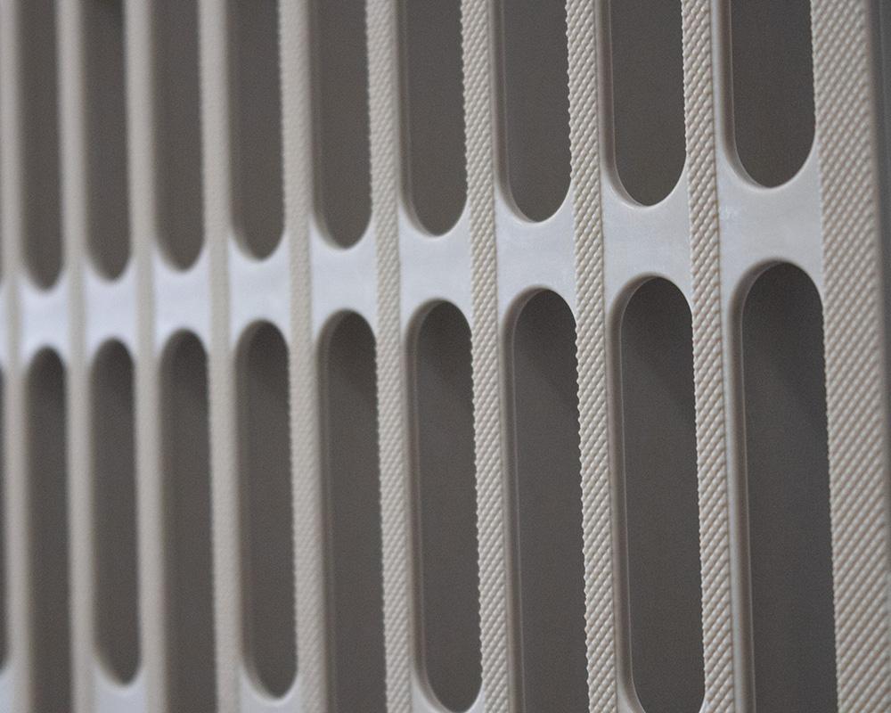 A close up of a Surge dock panel.