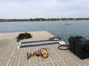 Solar Powered Dock Panels